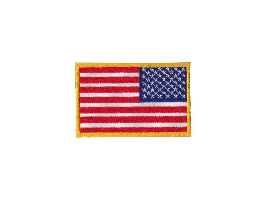 Nášivka vlajka USA zrcadlově obrácená barevná