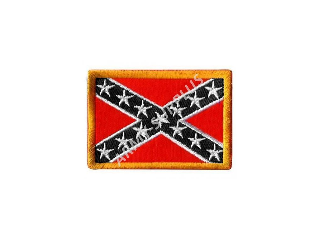 Nášivka Konfederace (jižanská) černá
