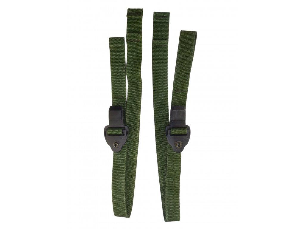 Popruh k ramenním trekům modulárního batohu US molle oliv woodland originál