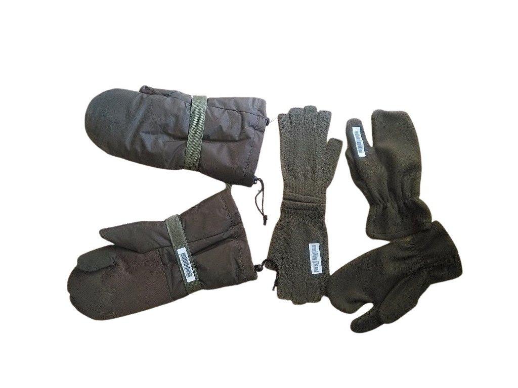 Zimní rukavice AČR kombinované tříprsté