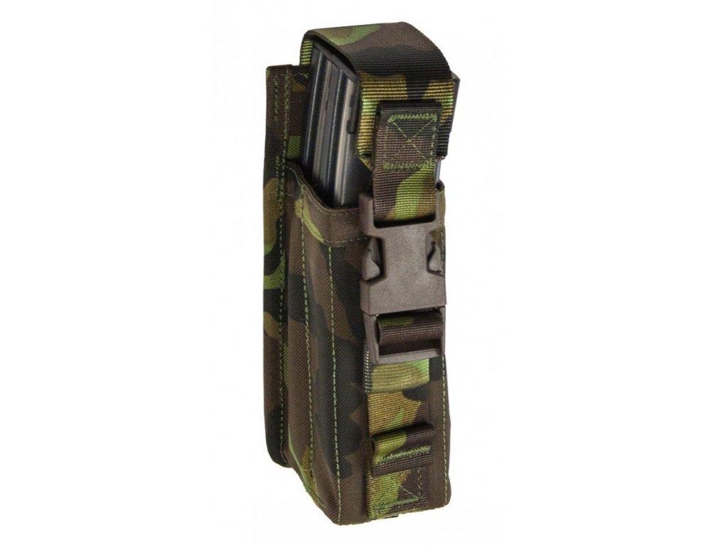 Pouzdro na 2 zásobníky 30 ranné Scorpion EVO 3 / Uzi / SA 24/26 / MP5 lesní potisk vz.95 SPM (71Y1A)