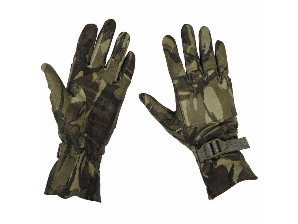Rukavice MTP multicamo britské kožené  Combat gloves Velká Británie