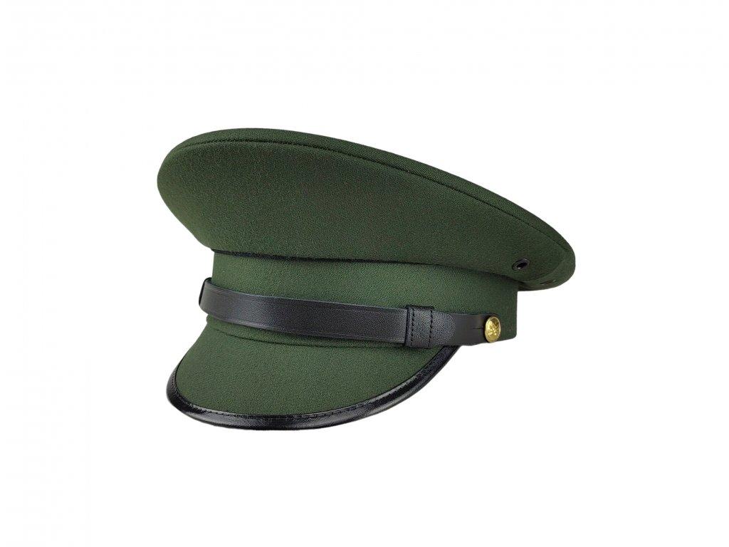 Čepice 97 večerní zelená se zlatovými knoflíky brigadýrka AČR originál