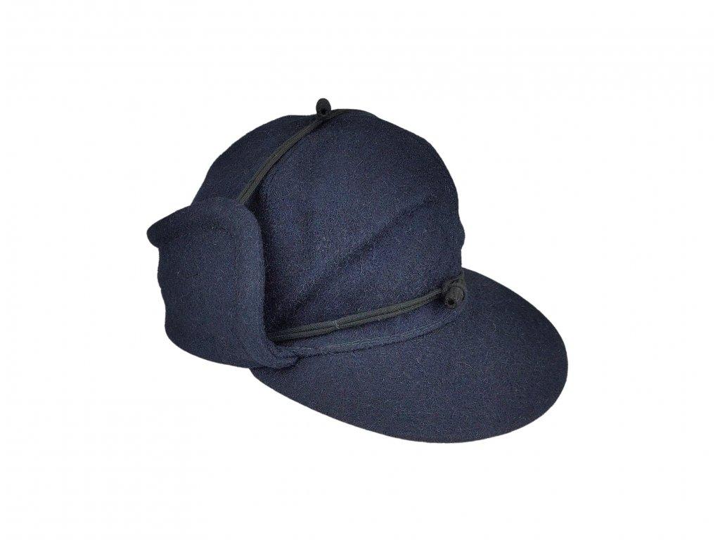 Čepice nádražácká zimní ČSD retro tmavě modrá