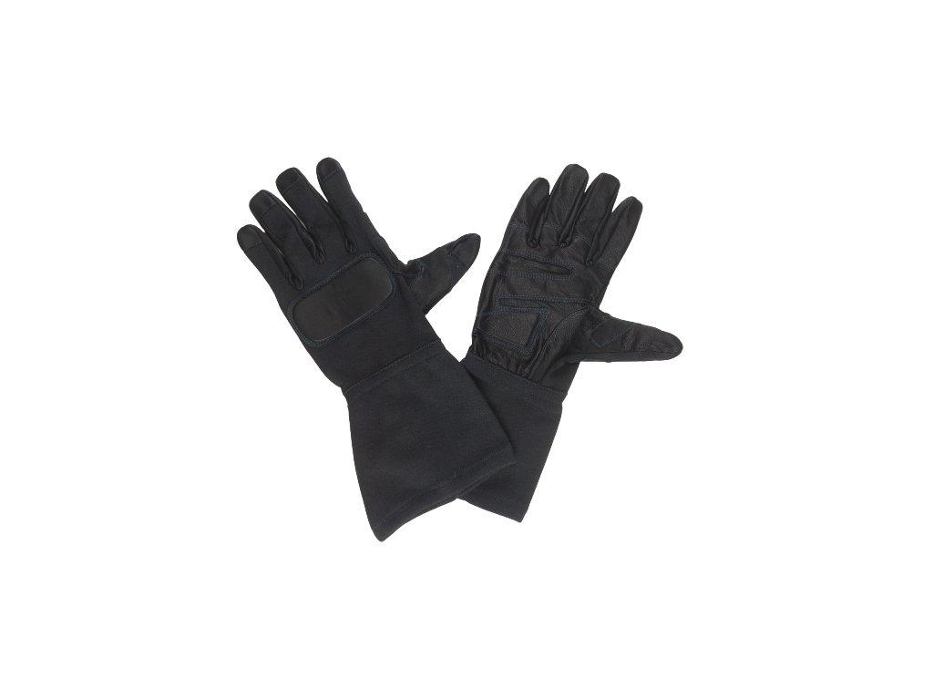Zásahové rukavice Holík černé nomex