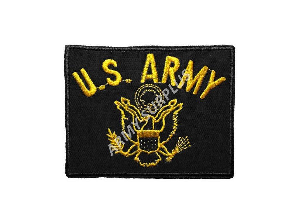 Nášivka U.S. ARMY logo - černá