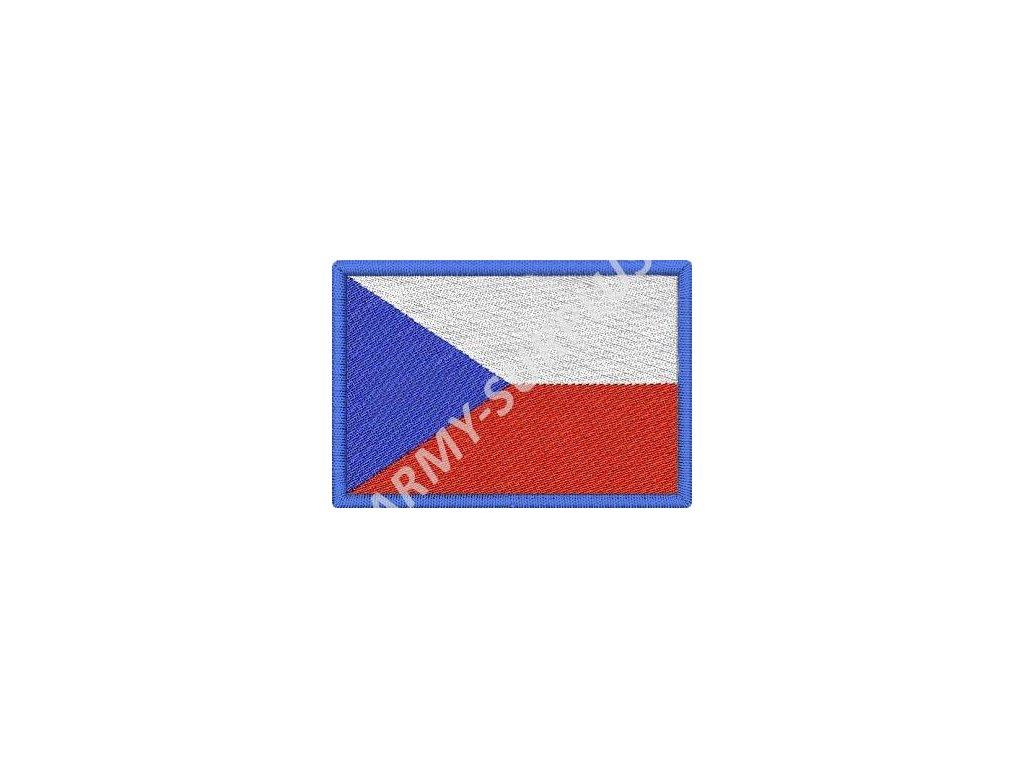 Nášivka vlajka Česká republika nažehlovací