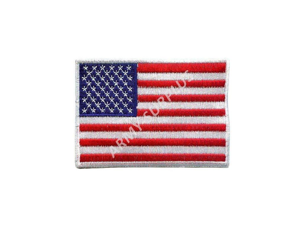 Nášivka vlajka USA barevná nažehlovací