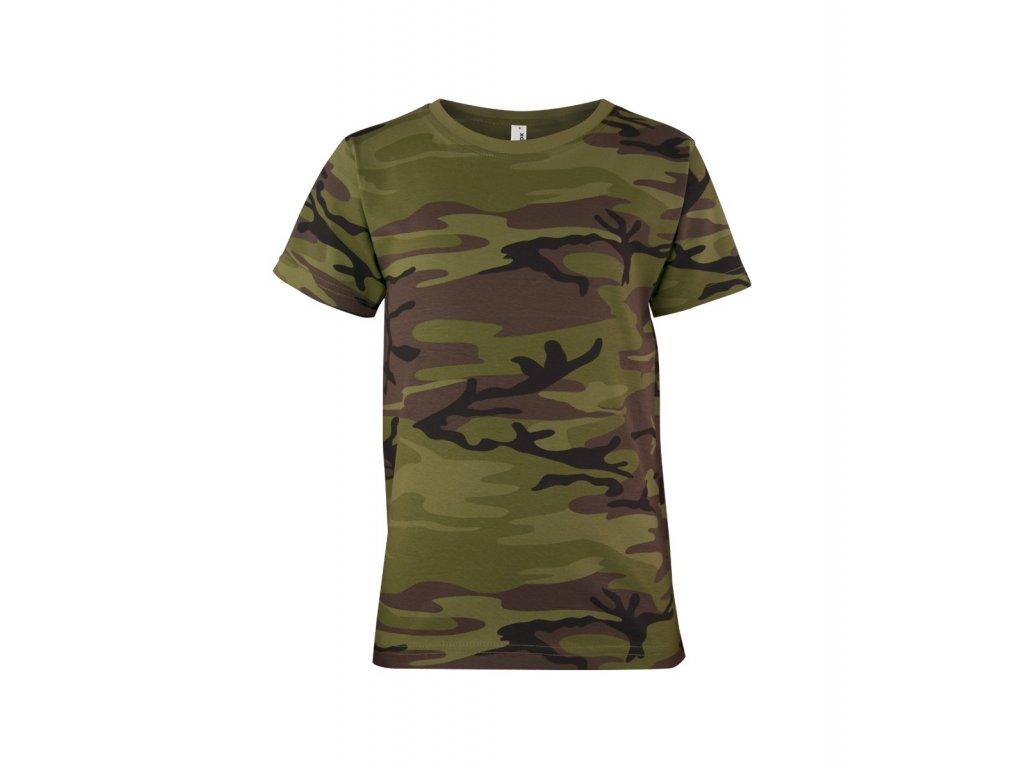 Triko dětské (tričko) Military AlexFox model 95 s krátkým rukávem