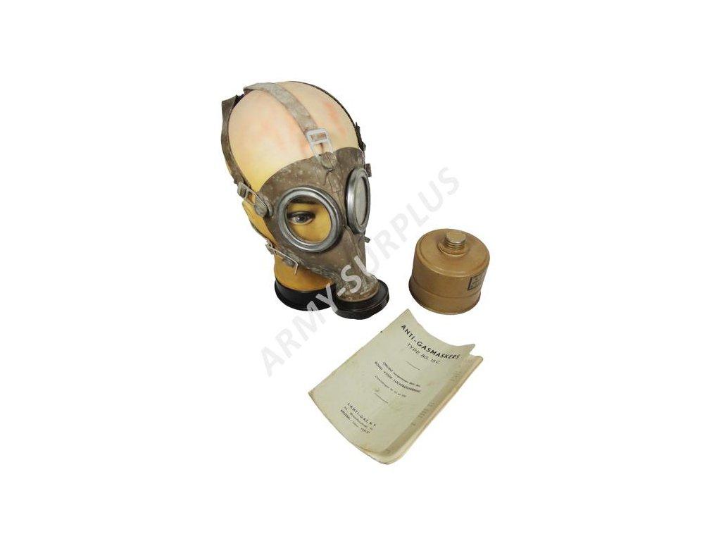 Plynová maska L 702 Belgie 1936