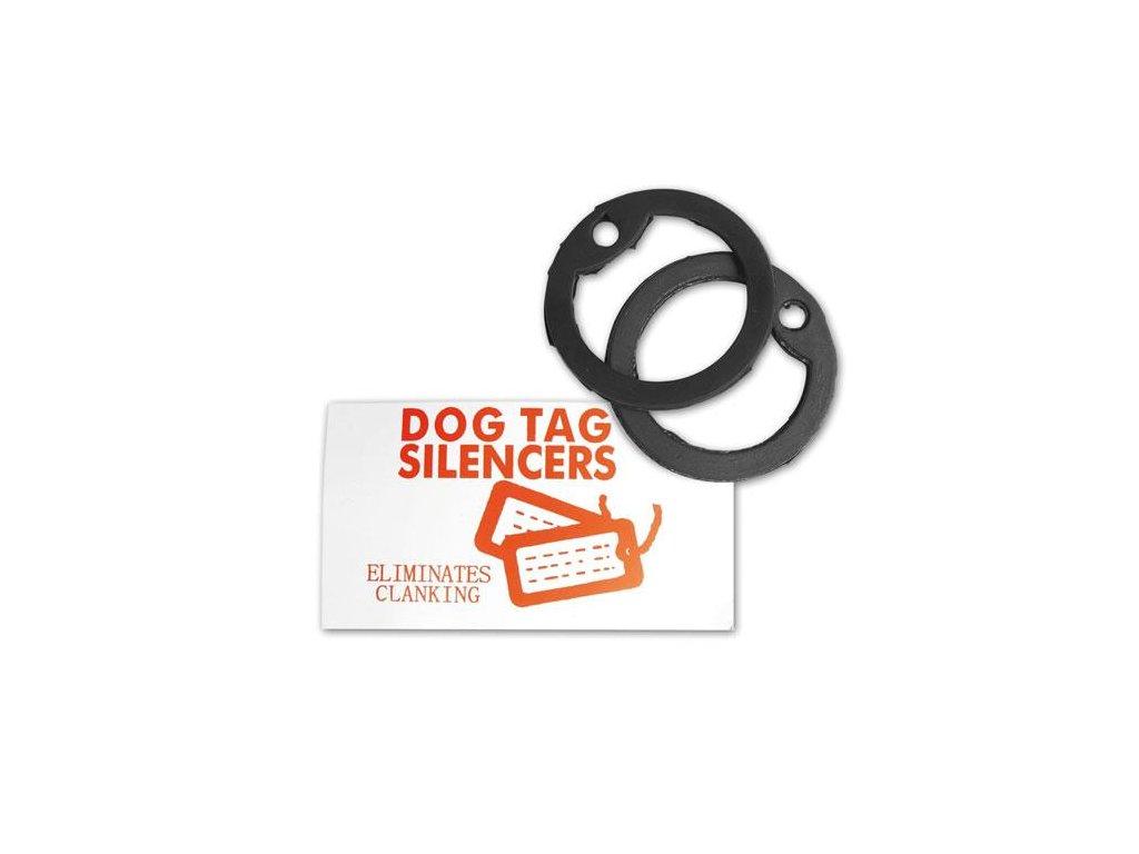 Gumičky (tlumítka) k identifikačním  známkám US Dog Tags 2ks černé