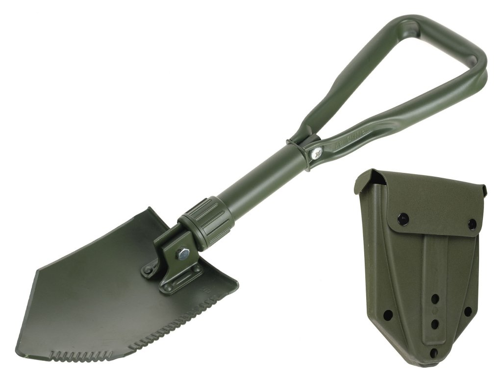 Skládací lopatka 3dílná BW (Bundeswehr) originál s plastovým pouzdrem