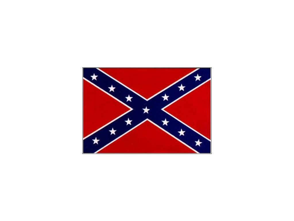Praporek (prapor) velký Konfederace (60 x 90 cm)