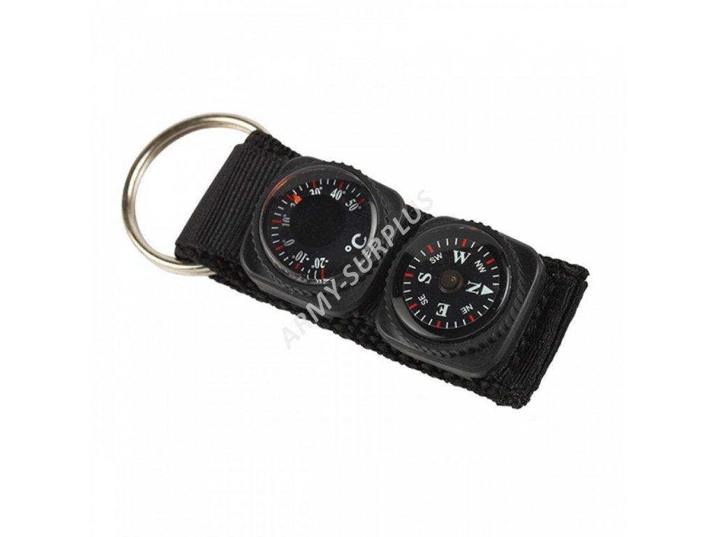 Přívěšek kompas teploměr na klíče Pentagon K24001