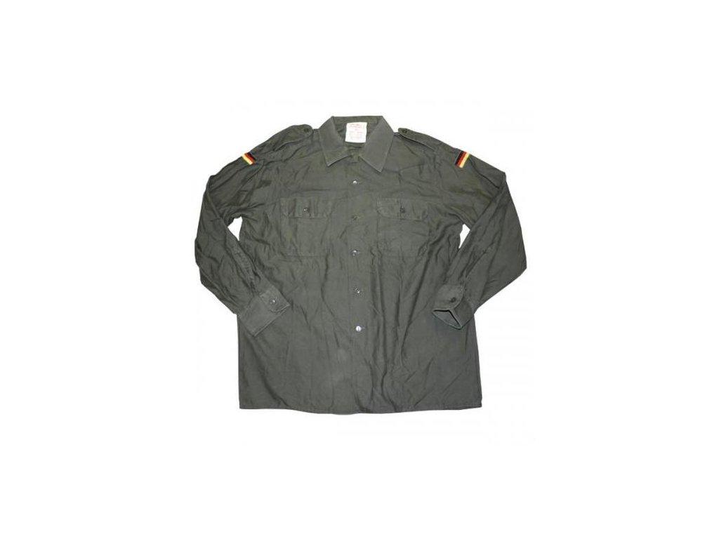 Košile BW (Bundeswehr) oliv dlouhý rukáv použitá originál