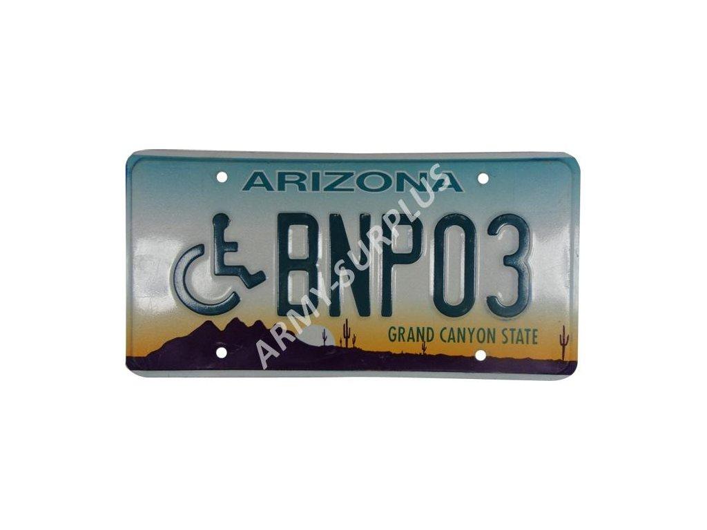 Poznávací značka na auto (License Plates) USA Arizona vozíčkář