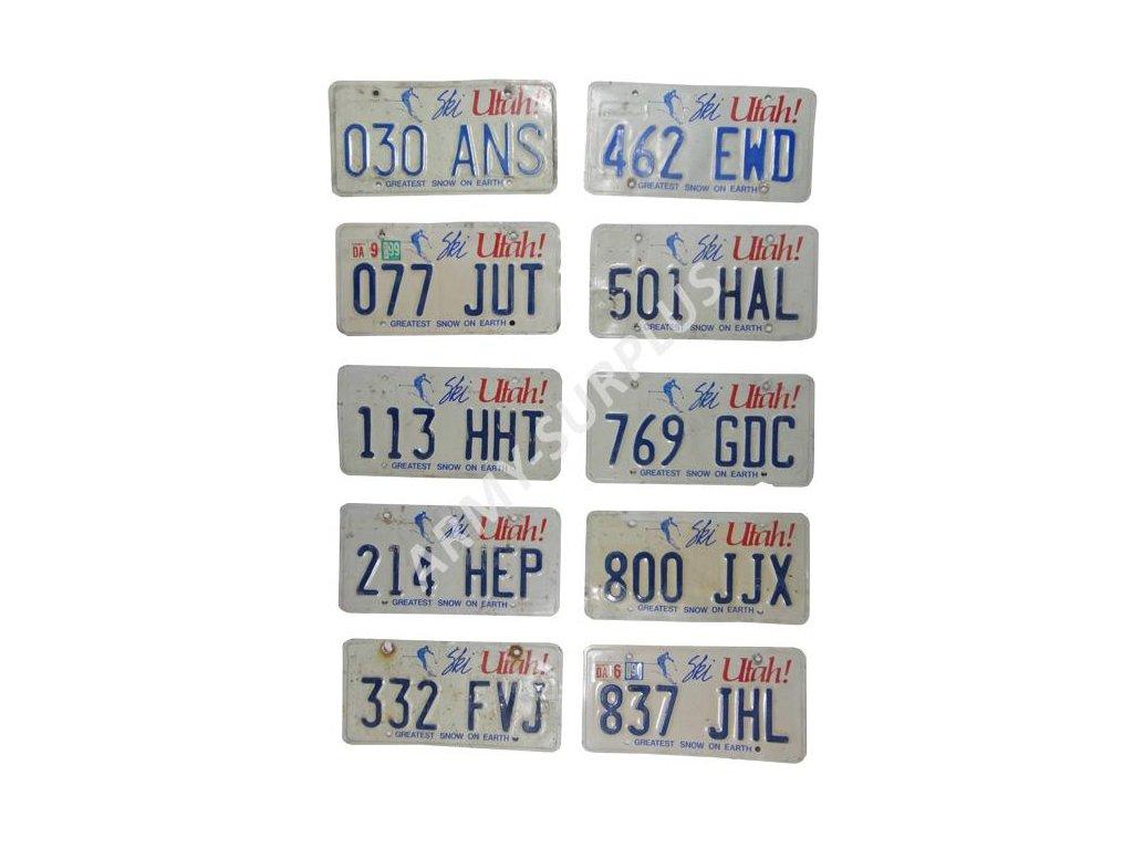 Poznávací značka na auto (License Plates) USA Utah