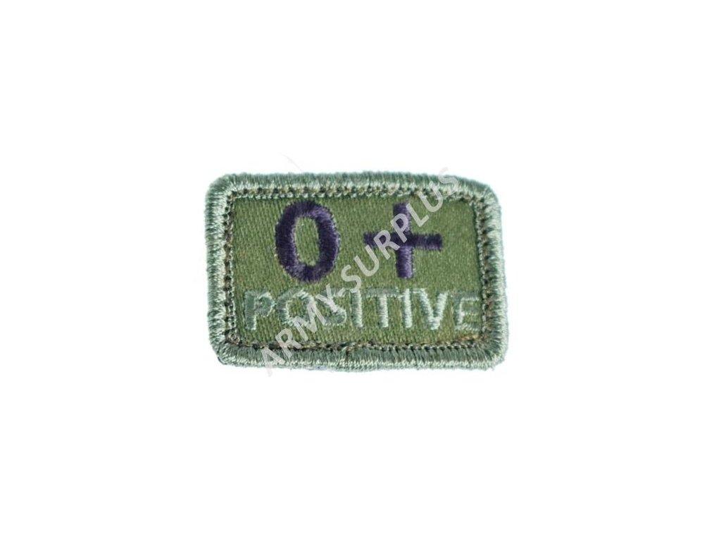 Označení krevní skupiny 0+ POSITIVE - oliv