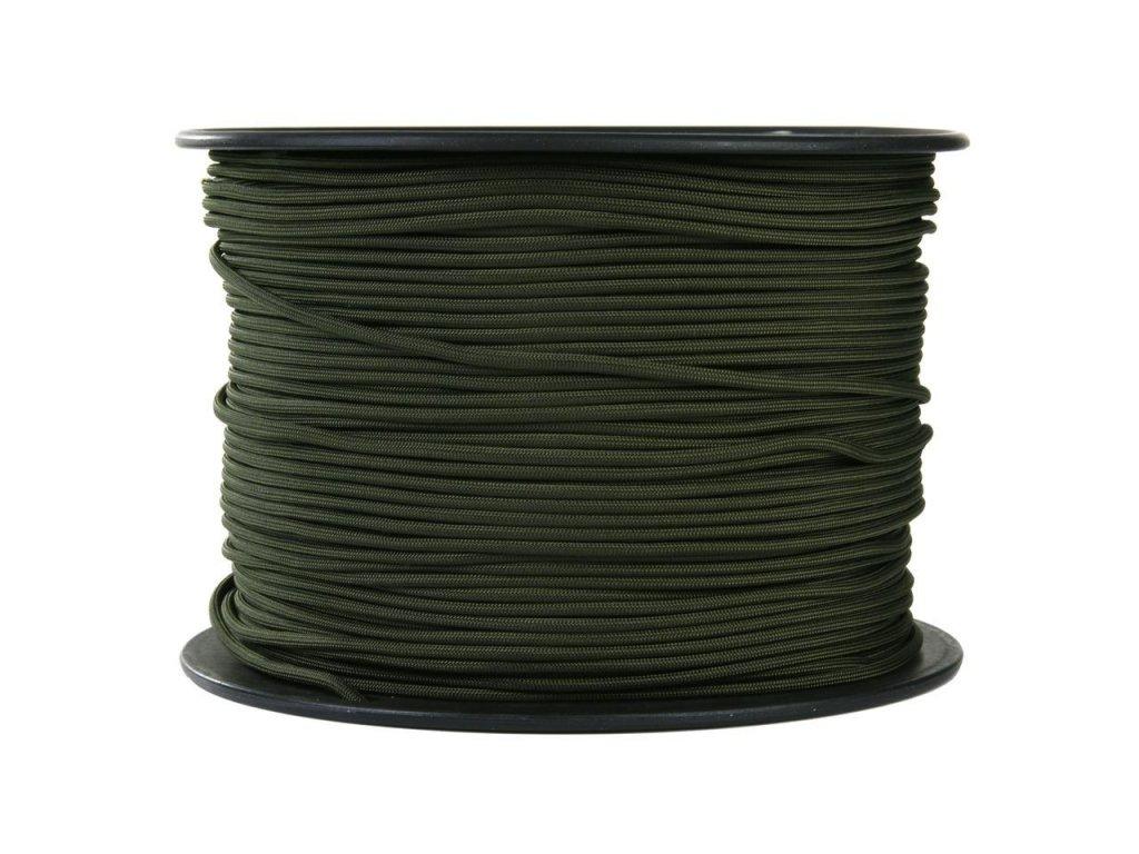 Šňůra paracord 550 oliv (padáková) 4mm 1m