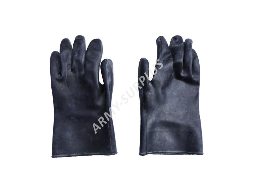 Rukavice gumové černé k protichemickému obleku FOP-85