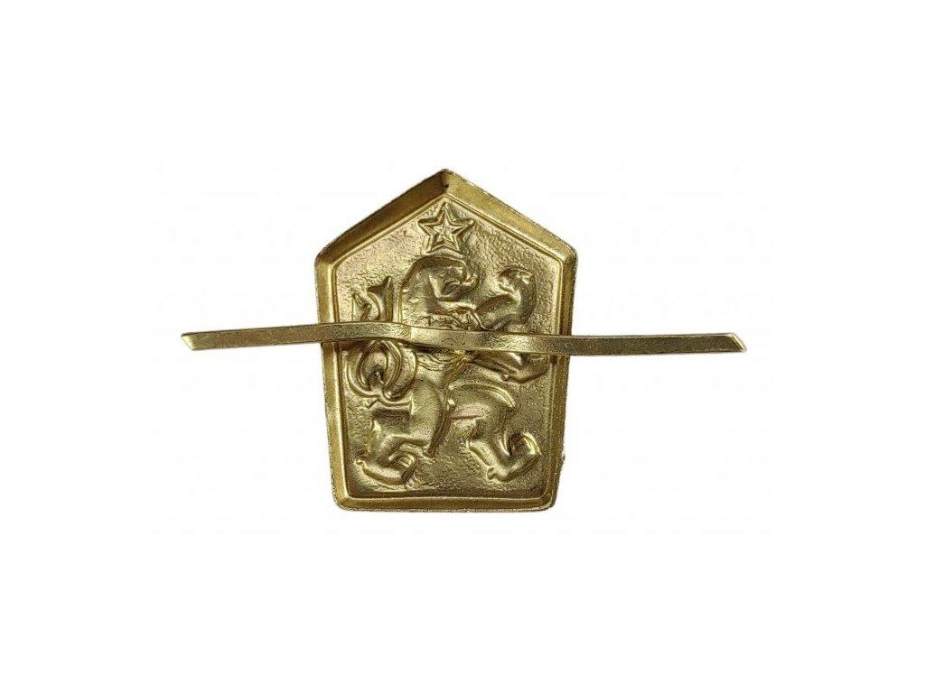 Odznak lev ČSLA zlatý na čepici