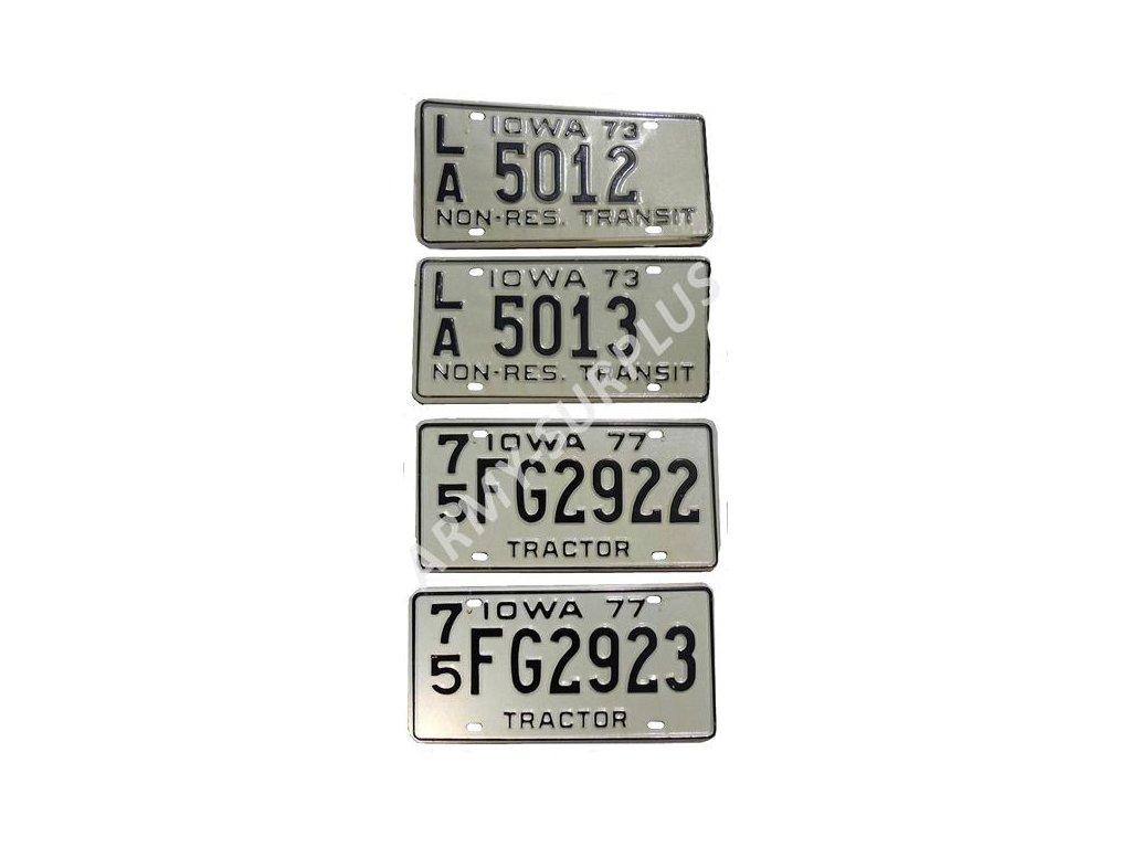 Poznávací značka na auto (License Plates) USA Iowa