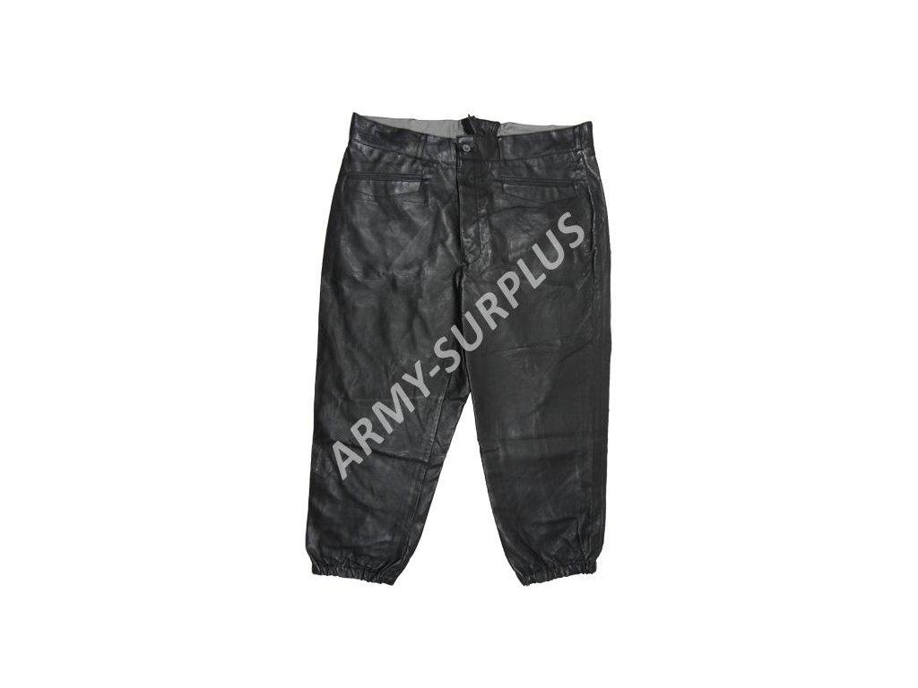 Kalhoty kožené černé Německo