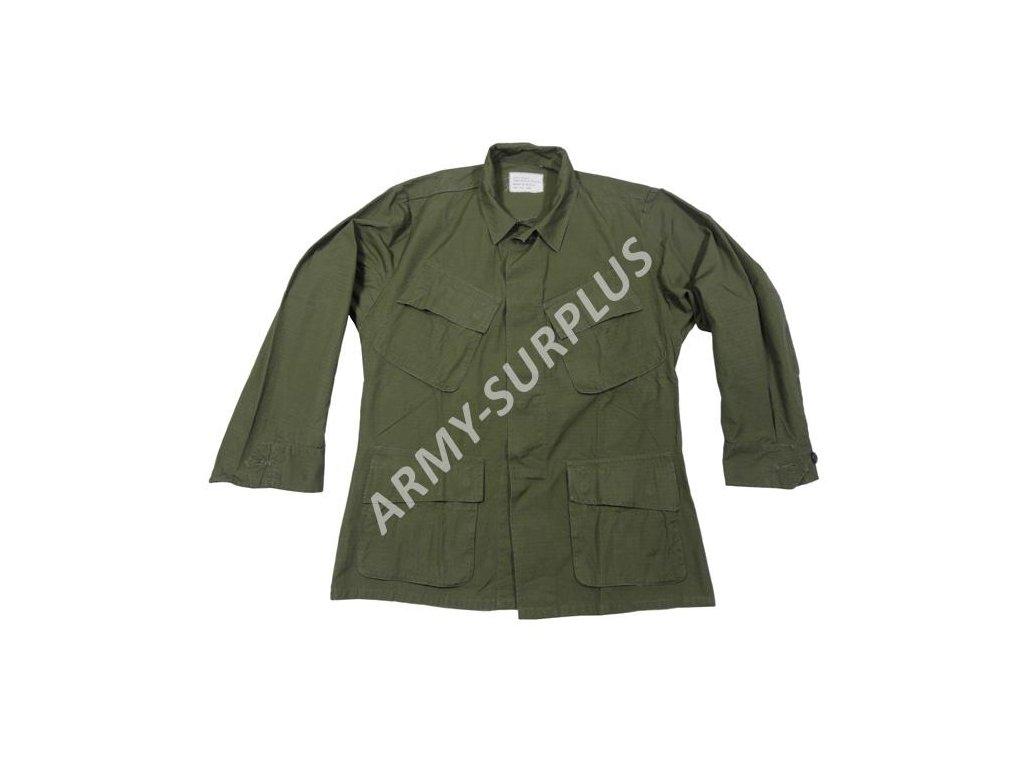 Blůza US oliv ripstop Poplin Vietnam originál použitá - ARMY-SURPLUS e3579d07ef
