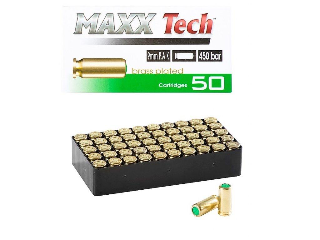 Startovací poplašné náboje Pobjeda MAXX 9mm Brass pro plynové pistole 50ks