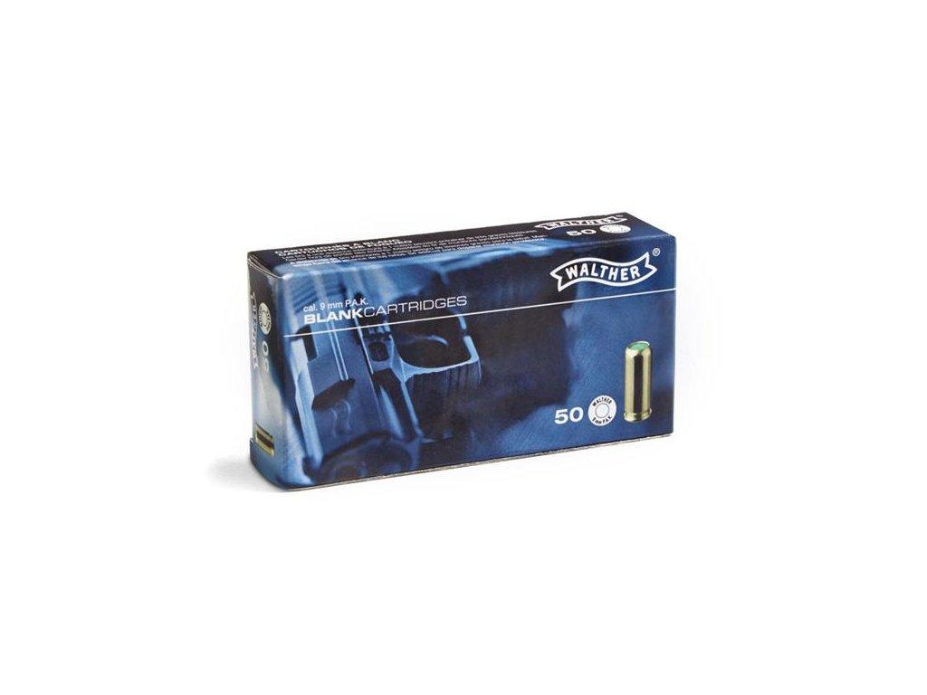 Plynové náboje (expanzní nábojka) 9mm PAK Blanc (slepý, poplašňák, startovací) Walther 50ks 4.1341