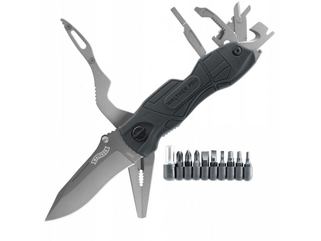 Nůž zavírací multifunkční Walther MultiTac Pro černý