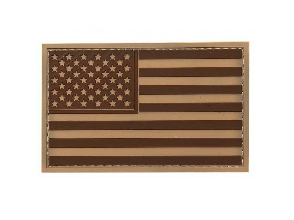 Nášivka vlajka USA desert 3D PVC suchý zip
