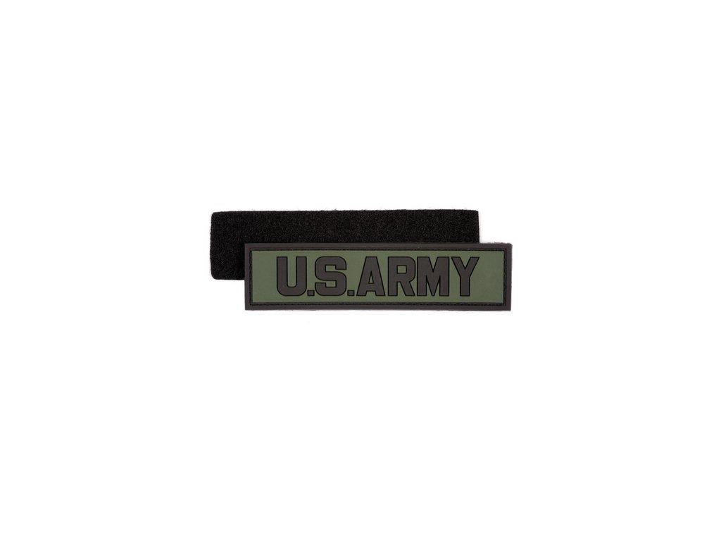 Nášivka US ARMY oliv 3D PVC suchý zip