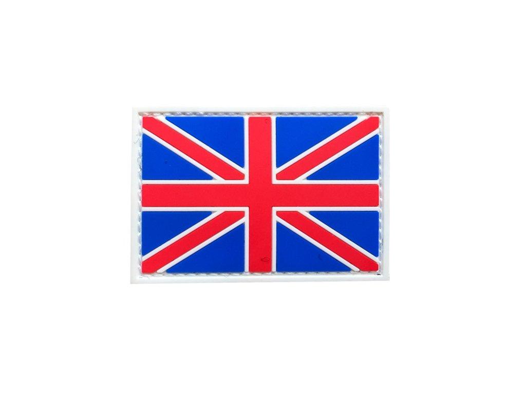Nášivka britská vlajka Velká Británie 3D PVC suchý zip