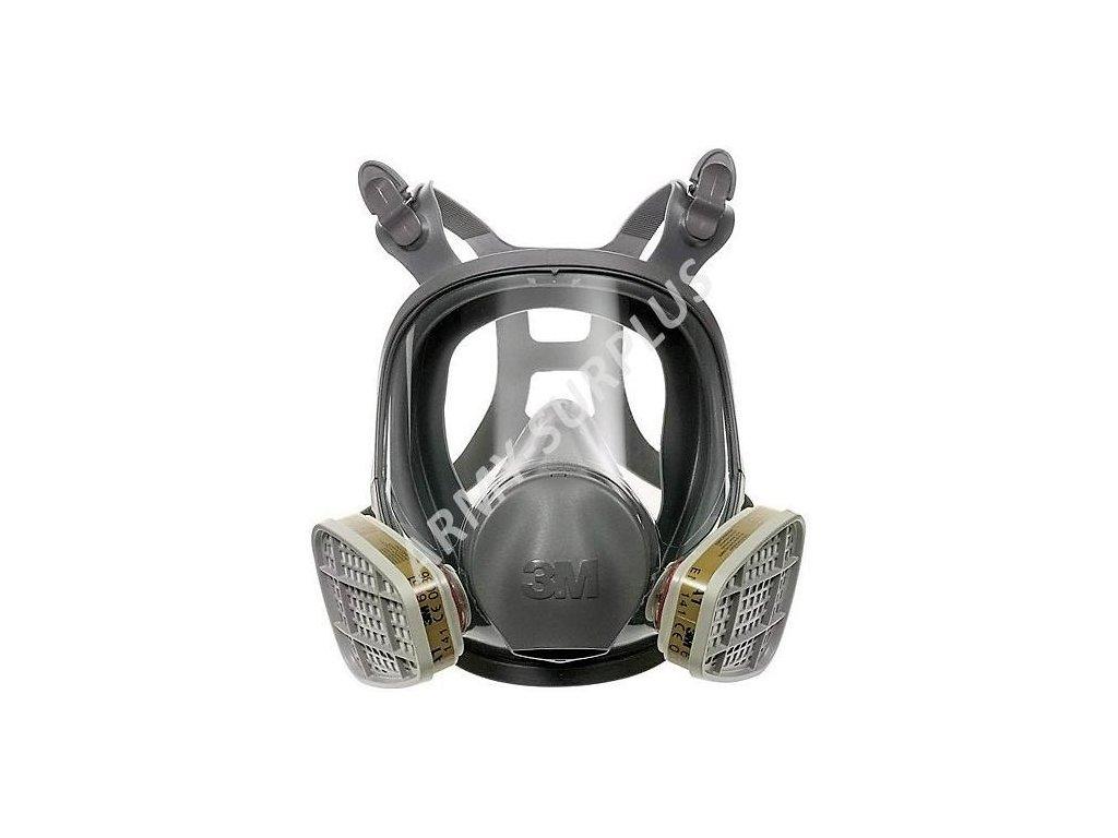 Plynová maska celoobličejová 3M 6800