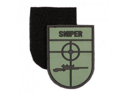 Nášivka Sniper 3D PVC suchý zip