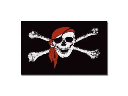 Vlajka Pirát se šátkem 90x150cm č.121