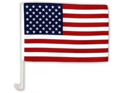Praporek USA s držákem na auto