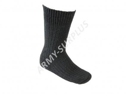 Ponožky Army Socks zimní pletené žebrované šedé