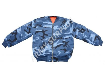 Bunda MA1 sky blue (bomber) skyblue