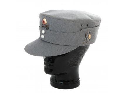Čepice BW (Bundeswehr) šedá (horský myslivec) s odznaky
