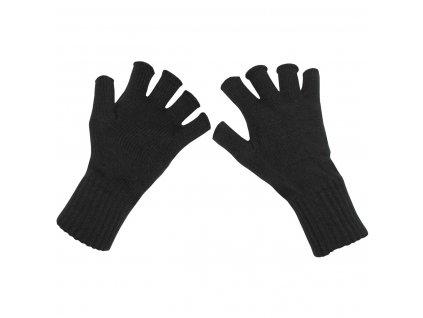 Rukavice bezprsté pletené černé