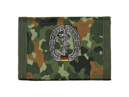 Peněženka s nášivkou Sanitäter flecktarn 30925L