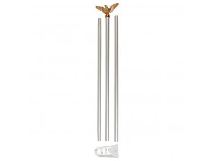 Nástěnný stožár 180cm na vlajku 90x150cm s orlicí