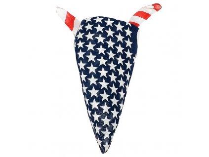 Šátek potisk USA pruhy čtvercový
