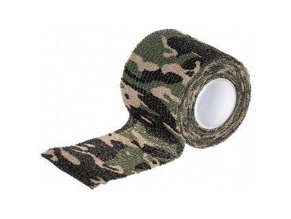 Maskovací samolepící páska woodland elastická MFH
