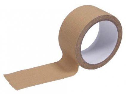 Páska lepící textilní khaki