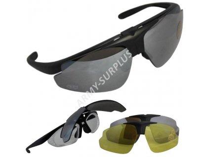 Brýle Hawk černé set 25823