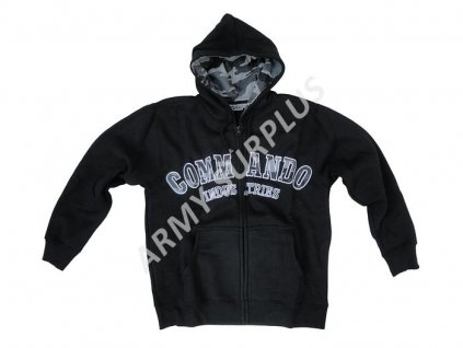 Mikina s kapucí Commando černá / metro
