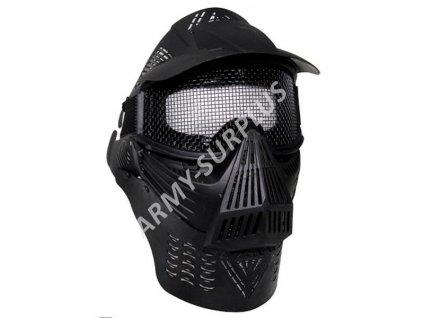 Ochranná maska na airsoft / paintball černá